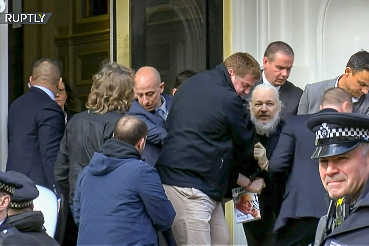 Co-Founder of Wikileaks Julian Assange arrested in London